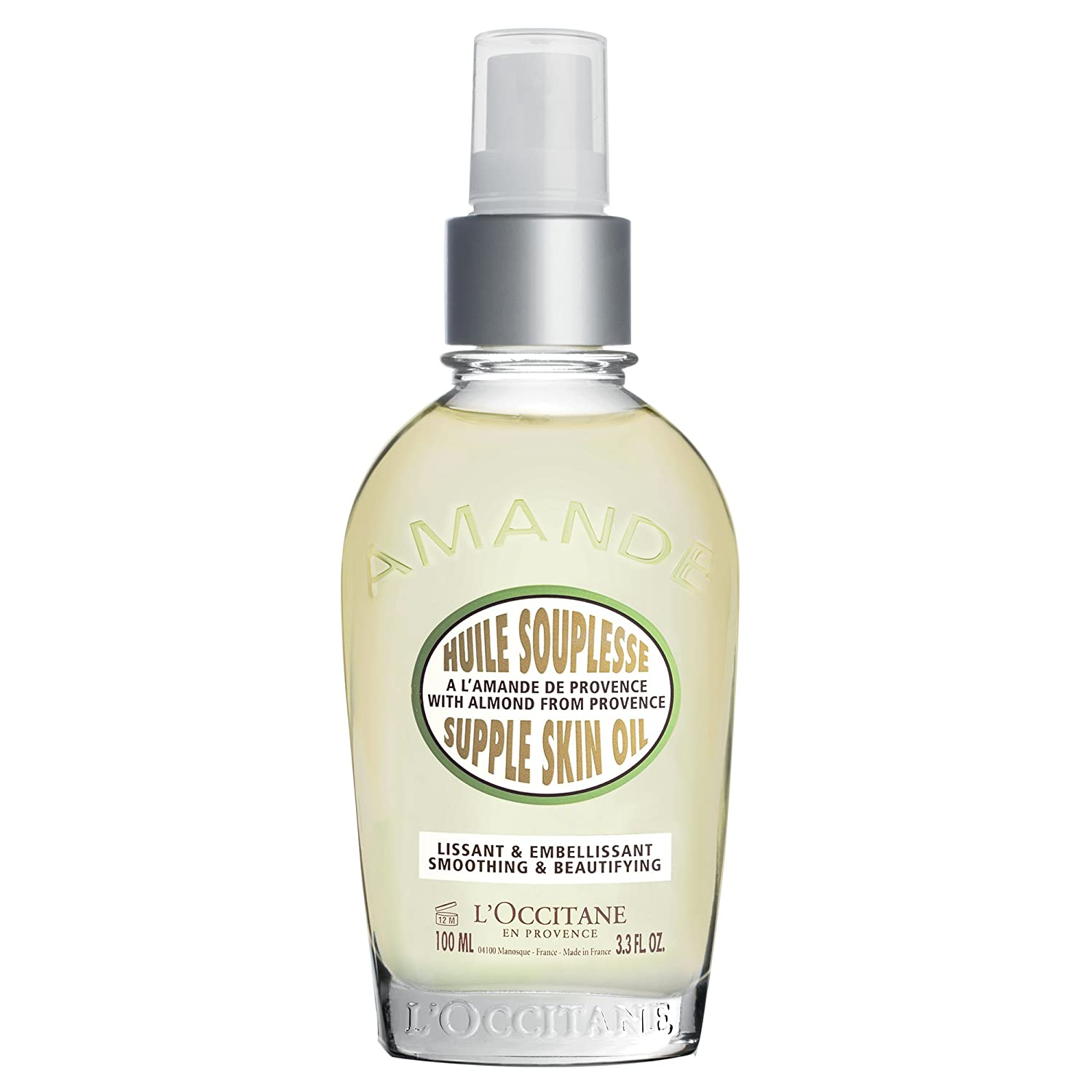 L'Occitane Almond Supple Skin Oil, 3.4 fl. oz, U-SC-1835 L' Occitane 29HS100A18