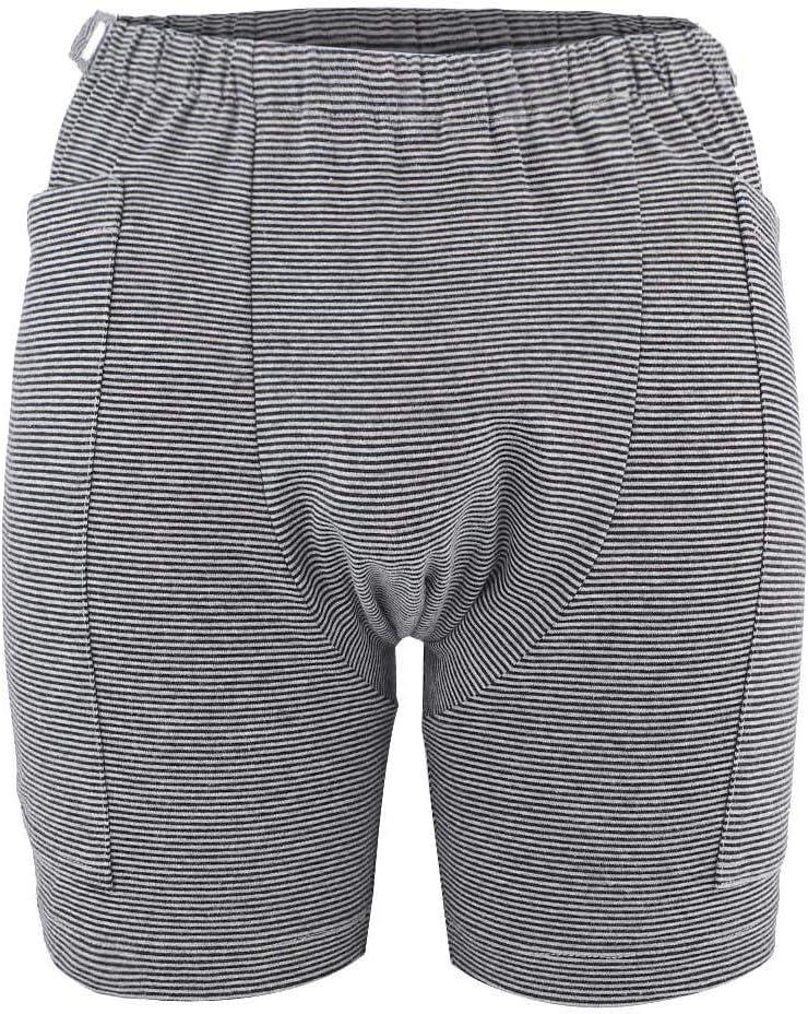 Pantalones para el cuidado de la incontinencia, pantalones de bolsa de orina adecuados para personas mayores con incontinencia para evitar la escena avergonzada (M-Men)