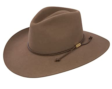 2f060637fbd1b Stetson Cowboy Hat 4X Beaver Fur Acorn Carson Pinch at Amazon Men s  Clothing store