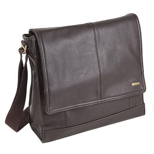 50588327e9 ... Embargo Mens Faux Leather Designer Classic Dispatch Messenger Shoulder  Bag online retailer dc92c 84c56 ...