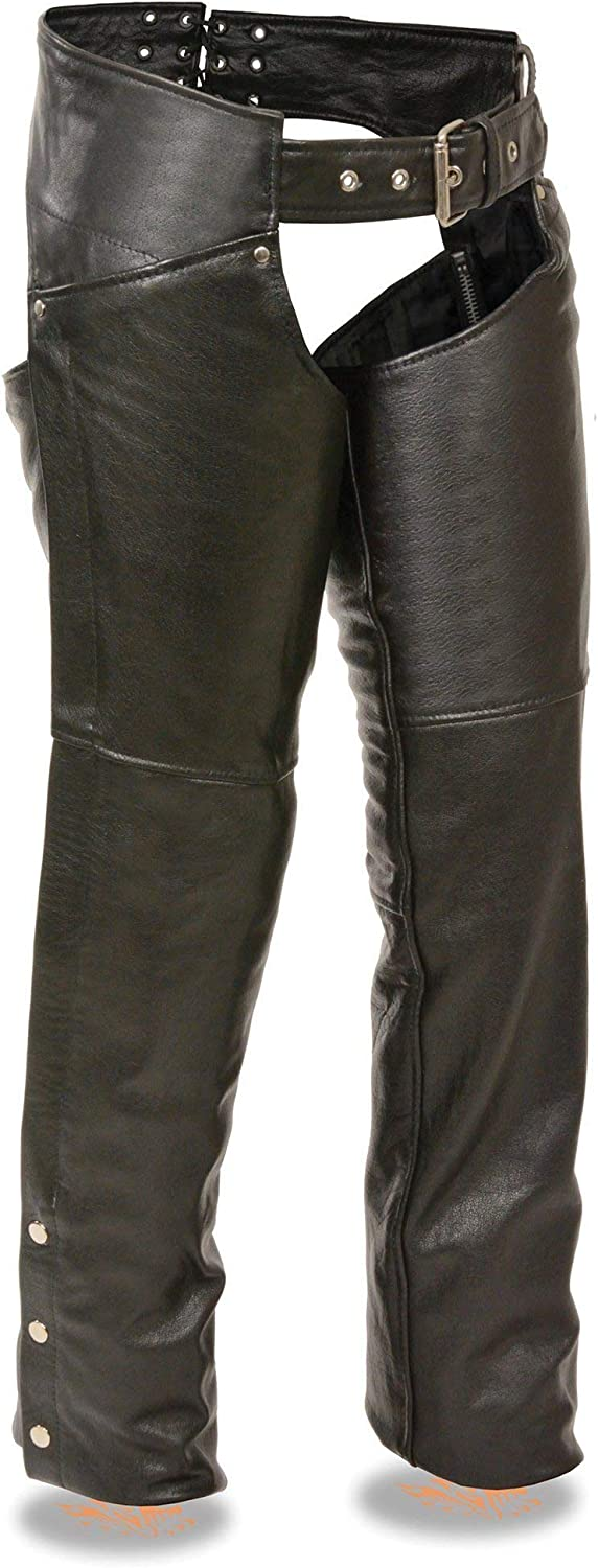 Milwaukee Leather ML1173 Womens Classic Black Leather Hip Chaps 3X-Large