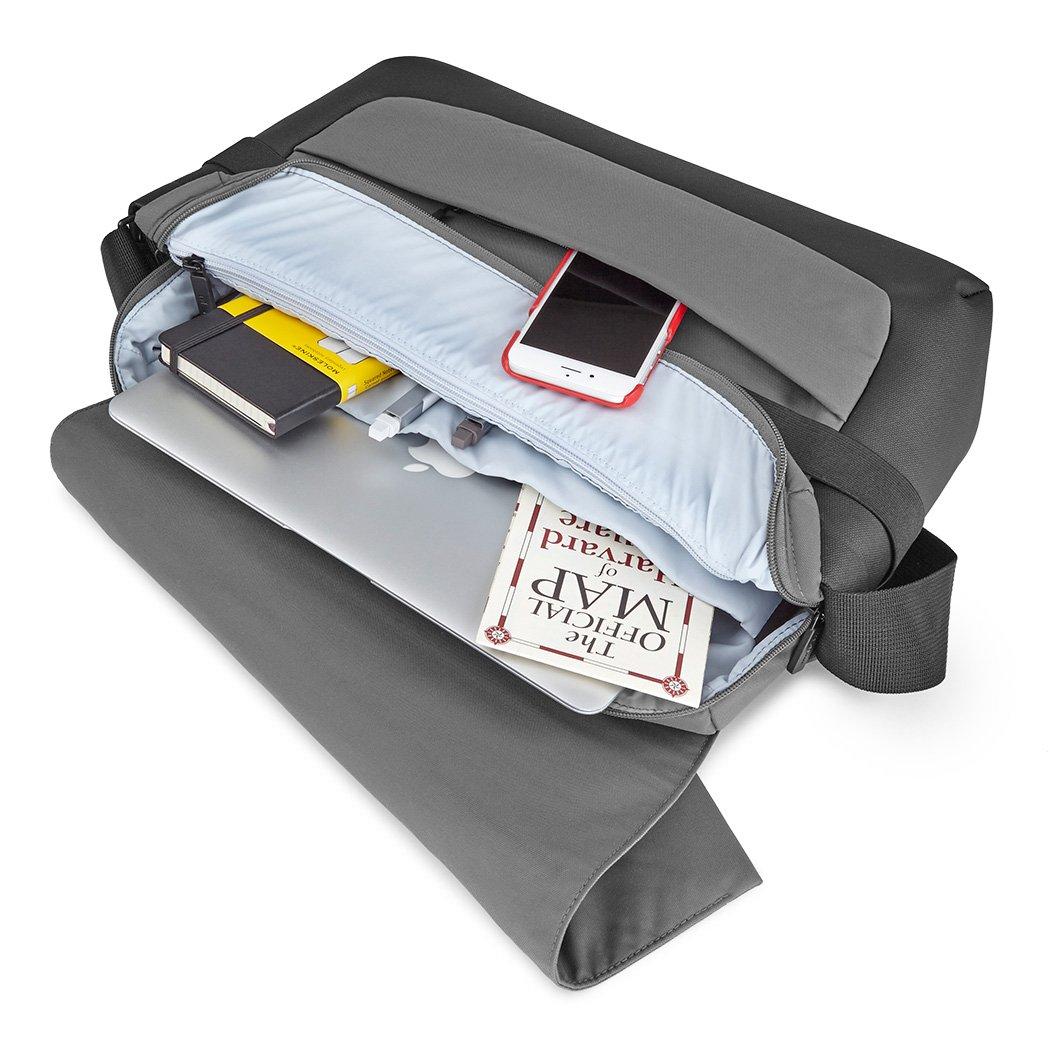 Black Moleskine ID Messenger Bag