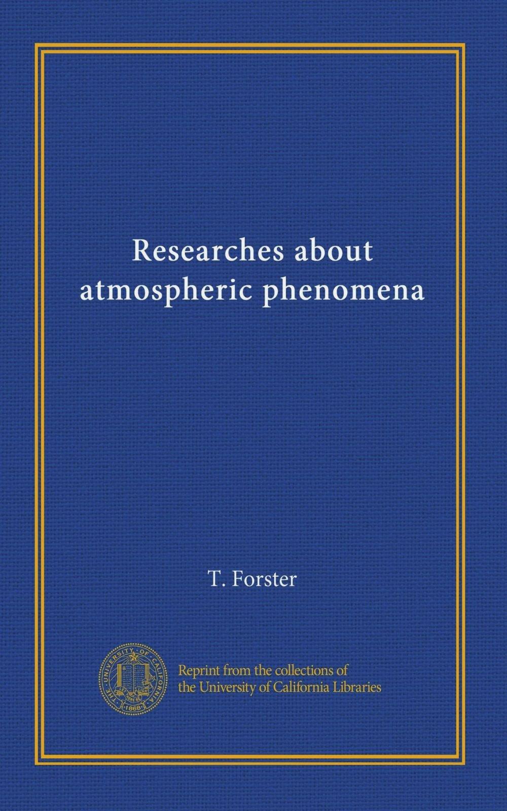 Download Researches about atmospheric phenomena pdf epub