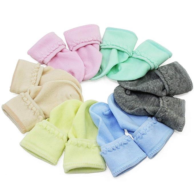 KEESIN Calcetines de Bebé Recién Nacidos Unisex Algodón de Color ...