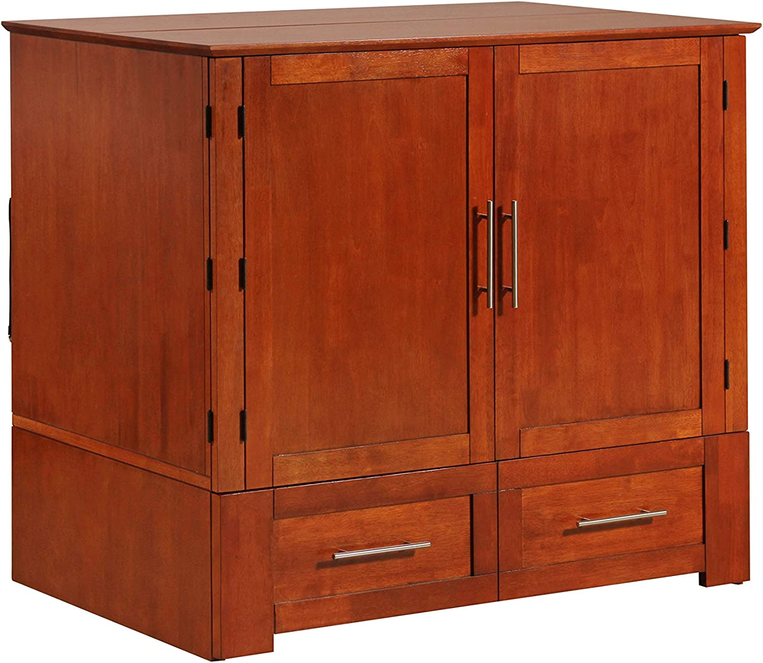 Emurphybed Daily Delight Murphy Cabinet Chest Bed with Charging Station & 6