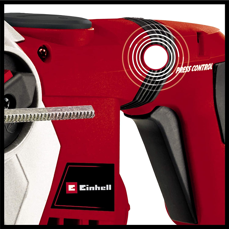 Einhell Bohrhammer TE-RH 32 4F Kit 1250 W, 5.0 Joule, 32 mm Bohrleistung in Beton, SDS-Plus, Anti-Vibrationsgriff, inkl. E-Box, 3 Bohrer, Spitzz- und Flachmei/ßel