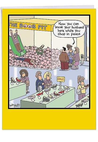 Big Happy Birthday Cartoon Greeting Card 85 X 11 Inch
