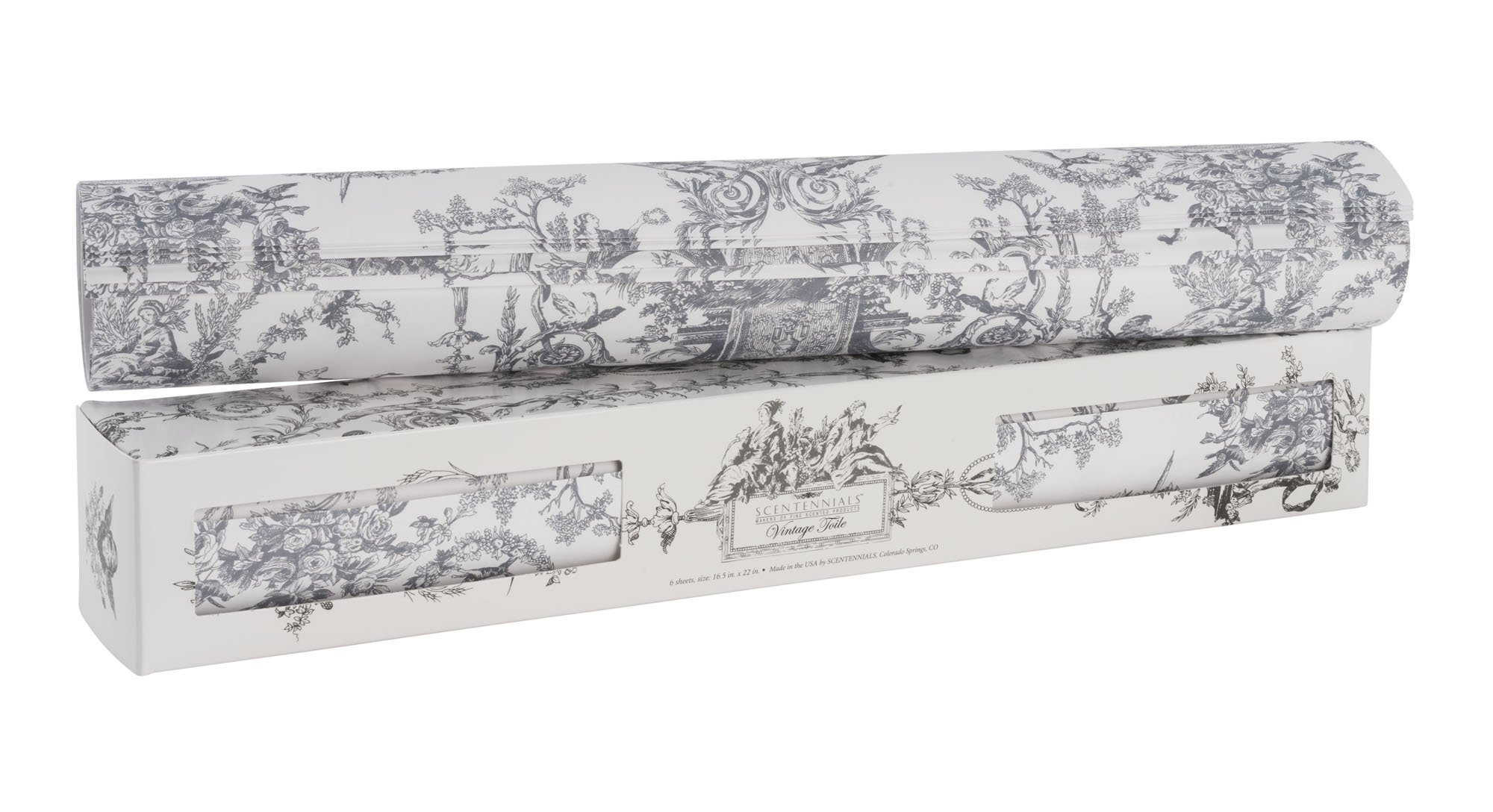 Scentennials Vintage Toile Gray (12 Sheets) Scented Drawer Liners by Scentennials Scented Drawer Liners