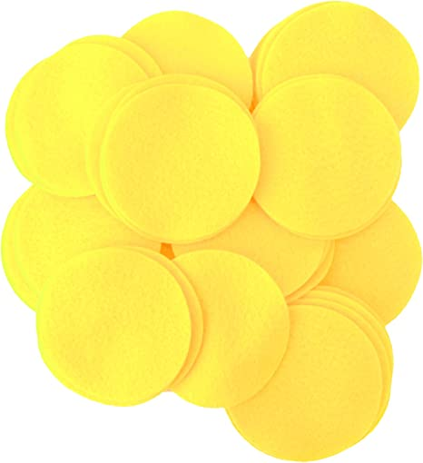 Playfully Ever After 2 Inch Yellow 44pc Felt Circles