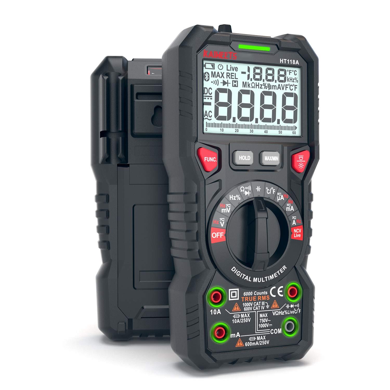 KAIWEETS True RMS Digital Multimeter Volt Meter Auto-Ranging Multi Voltage Tester Capacitance Meter Intelligent Anti-burning NCV Electrical Tester, Ohm Meter