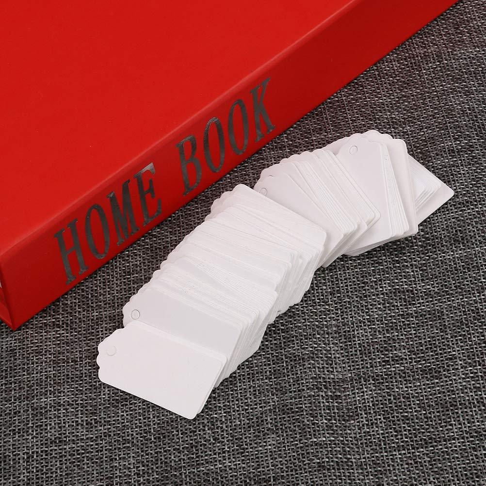 Yardwe Etiquetas de Regalo de Papel Kraft de 100 Piezas Etiquetas Colgantes de Boda Decoraci/ón Colgante para Banquete de Boda 5x3cm Blanco