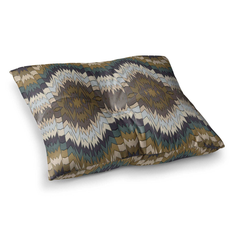 Kess InHouse Akwaflorell Papercuts Brown Geometric 23 x 23 Square Floor Pillow