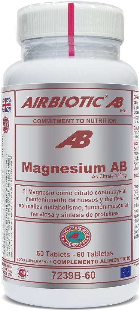 Airbiotic AB - Magnesio AB 150 mg - 60 tabletas. Minerales ...
