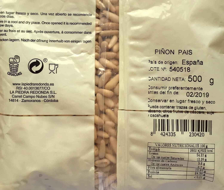 Piñón Nacional Oro del Mediterráneo Bolsa 500 g: Amazon.es: Alimentación y bebidas