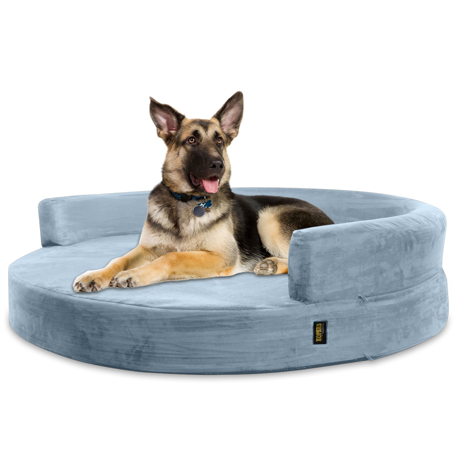 Deluxe Orthopedic Memory Foam ROUND Sofa Lounge Dog Bed