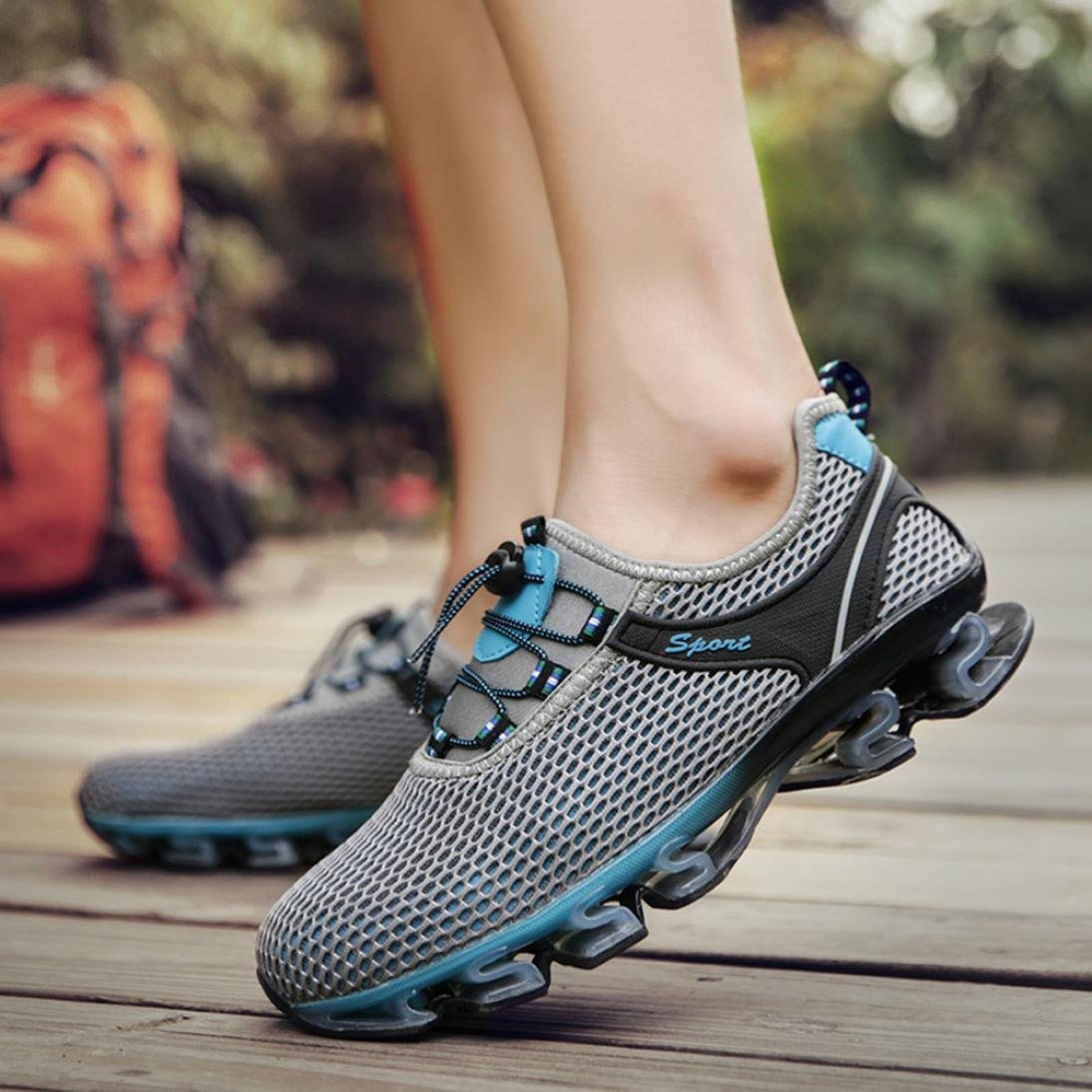 ❤️Men Sneakers, Neartime Hot Sale 2018 Spring/Autumn Fashion Casual Walking Sneaker Slip On Blade Outdoor Mesh Running Sport Shoes by Neartime Sandals