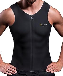 7f4616e0c4796 Junlan Men Weight Loss Shirt Workout Neoprene Top Training Body Shaper  Clothes Sweat Sauna Suit Exercise