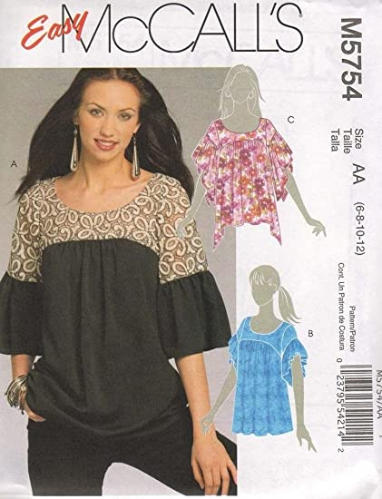 Amazon Com Mccall S Sewing Pattern M5754 Women S Tops Blouses 3