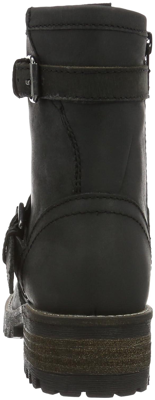 BLACK Damen Leder-Stiefelette Leder-Stiefelette Leder-Stiefelette Kurzschaft Stiefel Schwarz (000 schwarz Ld) e22838