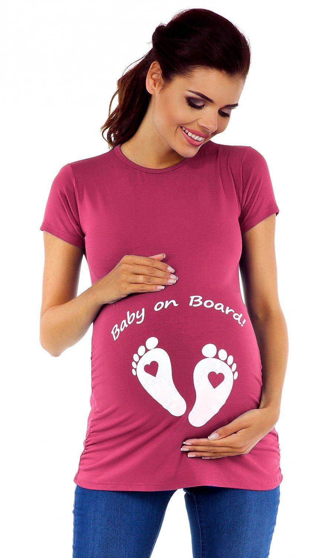 Womens Maternity t-Shirt top Funny Baby on Board Imprint Zeta Ville 199c