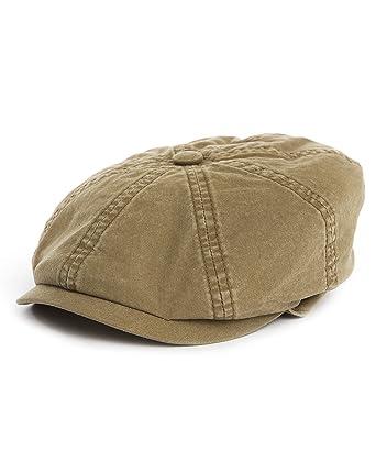eca68c09188f3f Stetson Teras Delave Organic Flat Hat Medium Olive: Amazon.ae: IFL ...