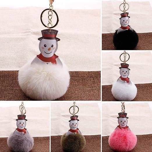 Amazon.com: Llavero de Navidad con forma de muñeco de nieve ...