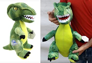 brigamo 24018 – Jurassic World© verde Velociraptor Peluche dinosaurio en XL Tamaño.