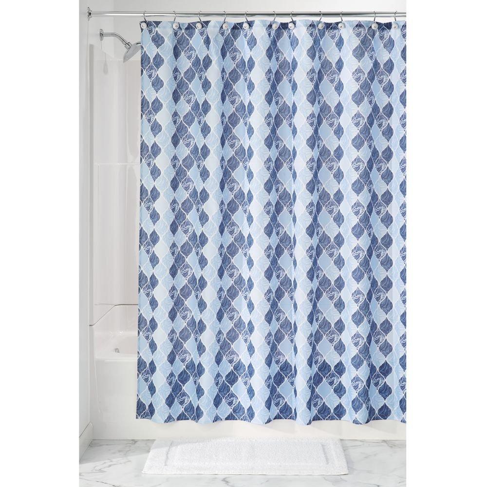 InterDesign Adele Shower Curtain, Gray/Blue Inc 50520