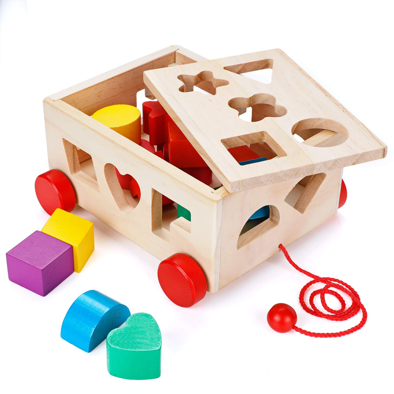 OSPORTFUN Kids Car Shape Sorter Toys Puzzle Baby