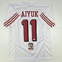 $114 » Autographed/Signed Brandon Aiyuk San Francisco White Alternate Football Jersey JSA COA