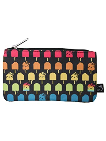 Amazon.com   Loungefly Sanrio Hello Kitty Ice Cream Popsicle Cosmetic Pencil  School Bag Pouch   Beauty c7f3a0d242138