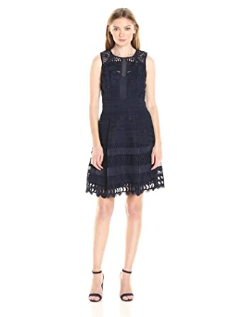 de4f0049 Amazon.com: Adelyn Rae Women's Lace Fit and Flare Dress: Clothing