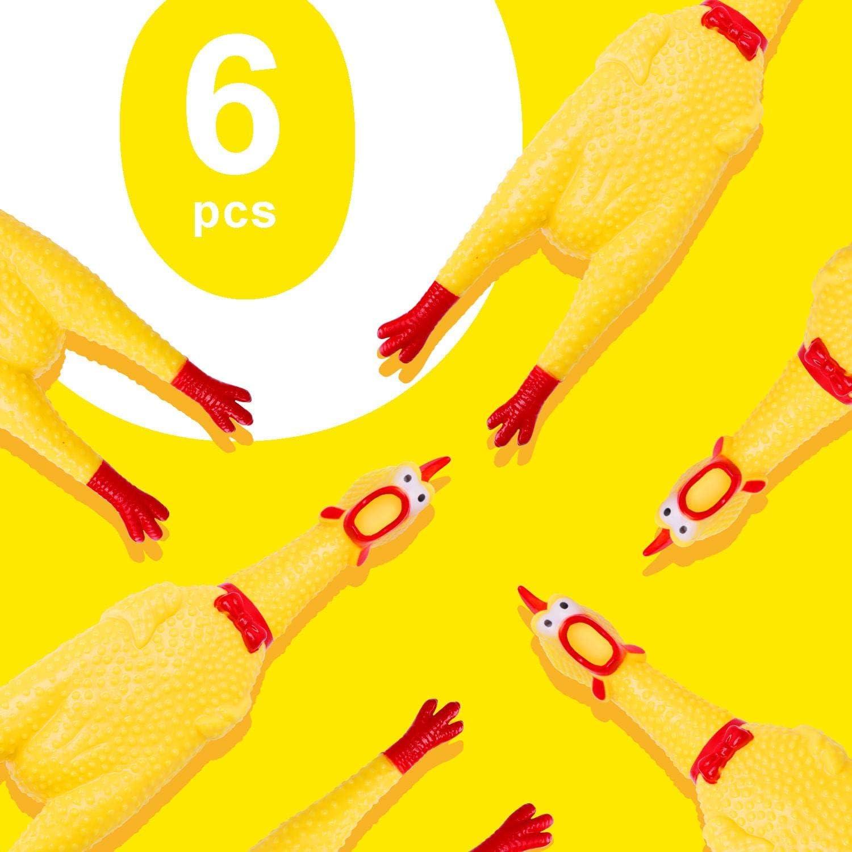Nobleza Caucho Amarillo Apretar Pollo Chill/ón de Pito Mascotas o Ni/ños 6* Chillones Pollo de Juguete,Gritando Pollo Juguete Perro Juguete para Divertido 6 32cm