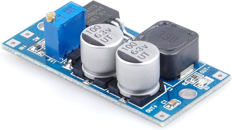 Enable Switch KNACRO 55V DC-DC Buck Module 5V 6V 9V 12V 24V 36V 48V 5-55V to 3V 5V 6V 12V 24V 1.25V-30V Adjustable High-Voltage Regulated Power Module with Indicator Light