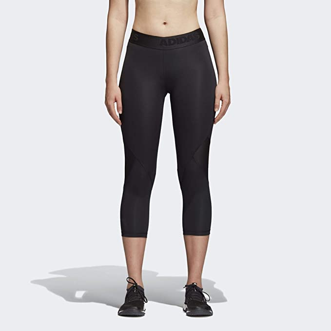 f8b0e4d7 adidas Women's Alphaskin Sport 3/4 Length Tight, Black, XX-Small