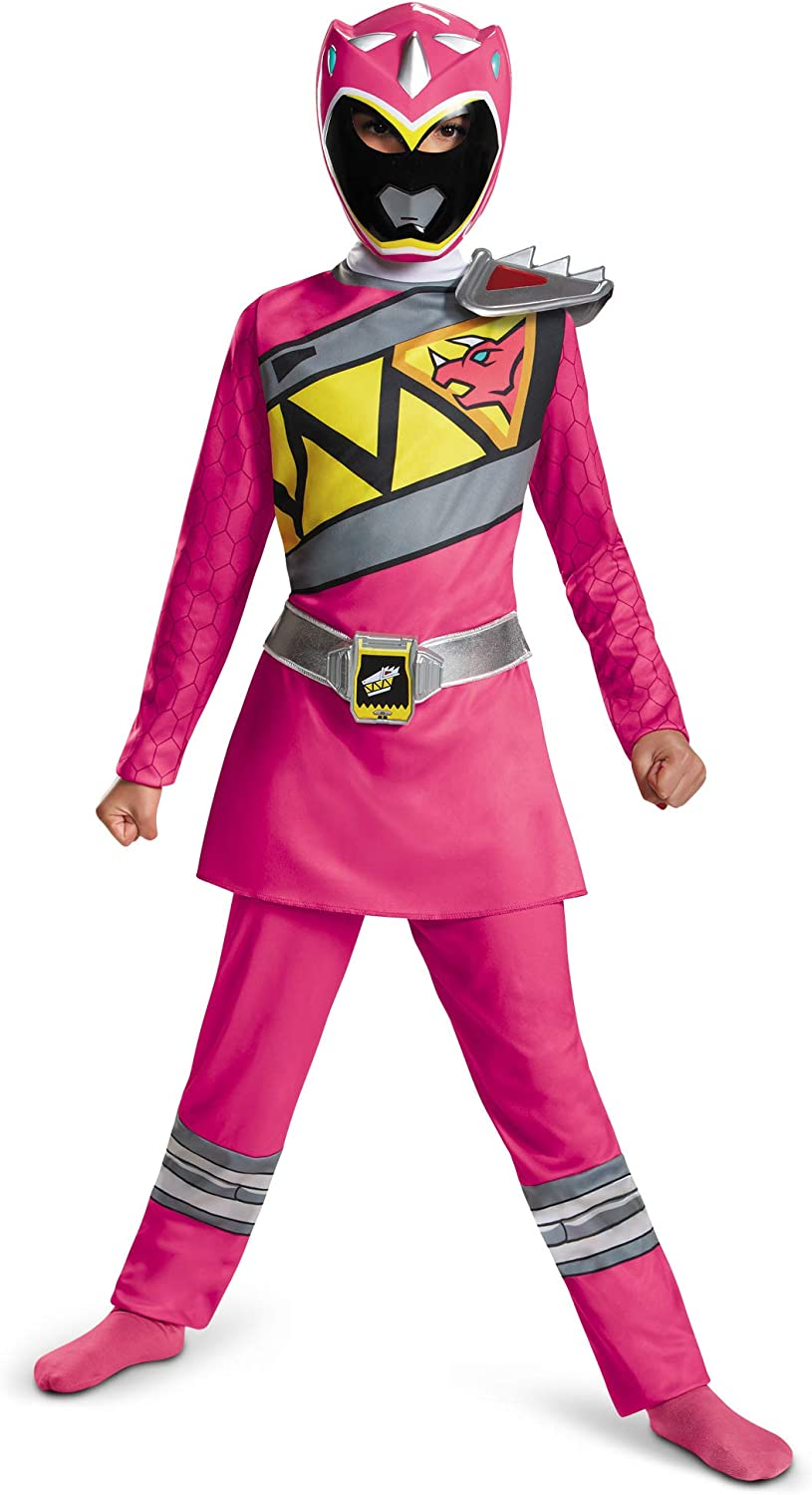 Power Rangers Costume For Girls Pink Dino Charge Kids Beast Morphers Ninja Dinosaur Pink Ranger For Kids Medium 7-8