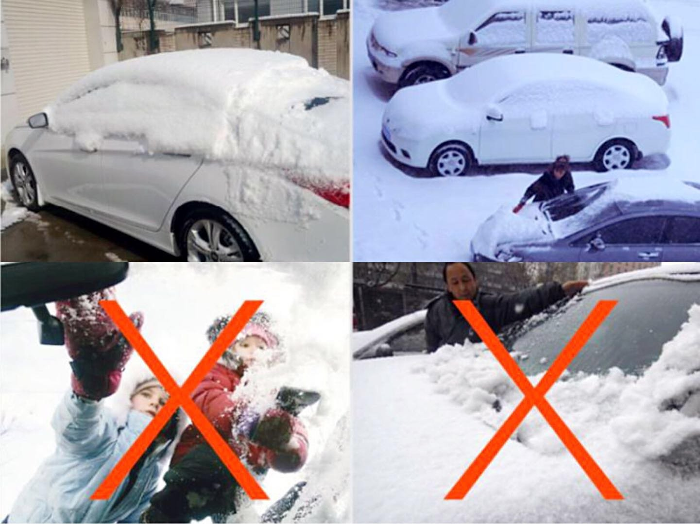 Safe View Half Car Cover Top Waterproof All  Weather/Windproof/Dustproof/Windshield Cover Snow Ice Winter Summer for  Sedan SUV (Sedan 3L(173