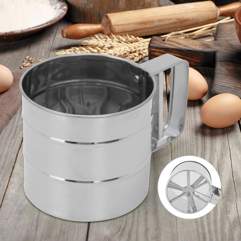 Shoze Mesh Kitchen Sifter Set Stainless Steel Flour Sieve Mugs Design Flour Sifter Shaker Baking Pastry Tools Bakeware Strainer