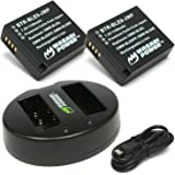 Wasabi Power Battery (2-Pack) and Dual USB Charger for Panasonic DMW-BLE9, DMW-BLG10 and Panasonic Lumix DMC-GF3, DMC-GF5, DMC-GF6, DMC-GX7, DMC-GX85, DMC-LX100, DMC-ZS60, DMC-ZS100
