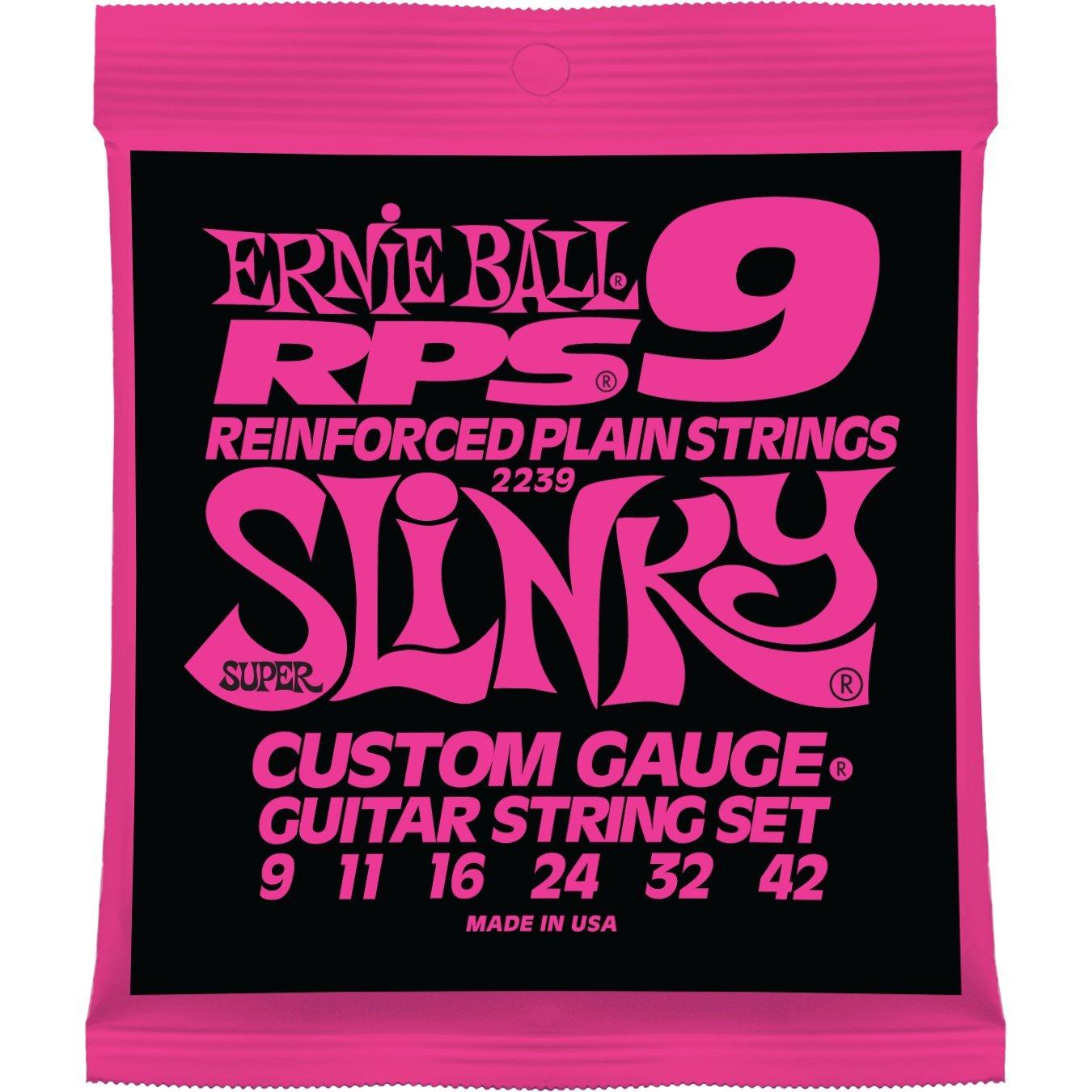 Cuerdas Ernie Ball Super Slinky RPS Nickel Wound para guitarra eléctrica - calibre 9-42