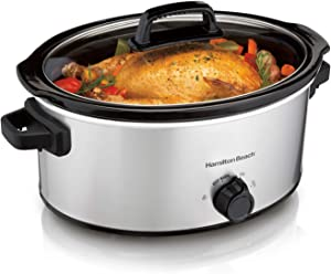 Hamilton Beach 6 Quart Oval Slow Cooker Stainless Steel 33665