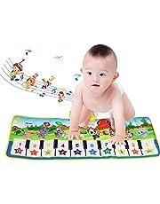 Tappeto Musicale Bambini, BelleStyle Bambino Piano Playmat Strumento Musicale Tocca la tastiera Giocattoli Educativi