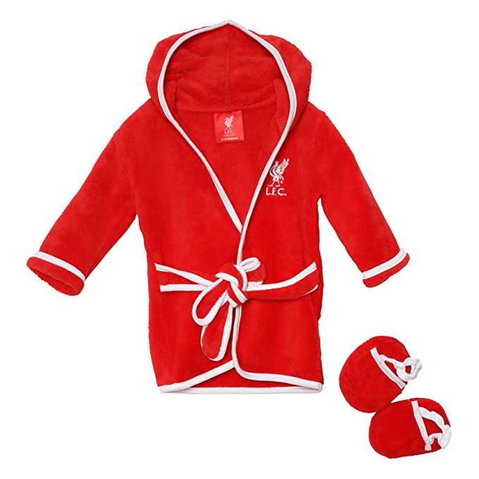 Amazon.com: Liverpool FC LFC Red Dressing Gown and Slipper Set: Clothing