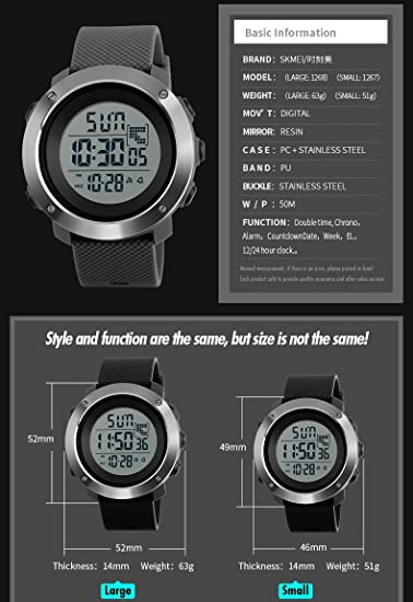 Amazon.com : CHOME Smart Watch Waterproof for Fitness Watch, Health Activity, Multifunction Military LED, Digital Watches Outdoor, Sport Wristwatch for Kids ...