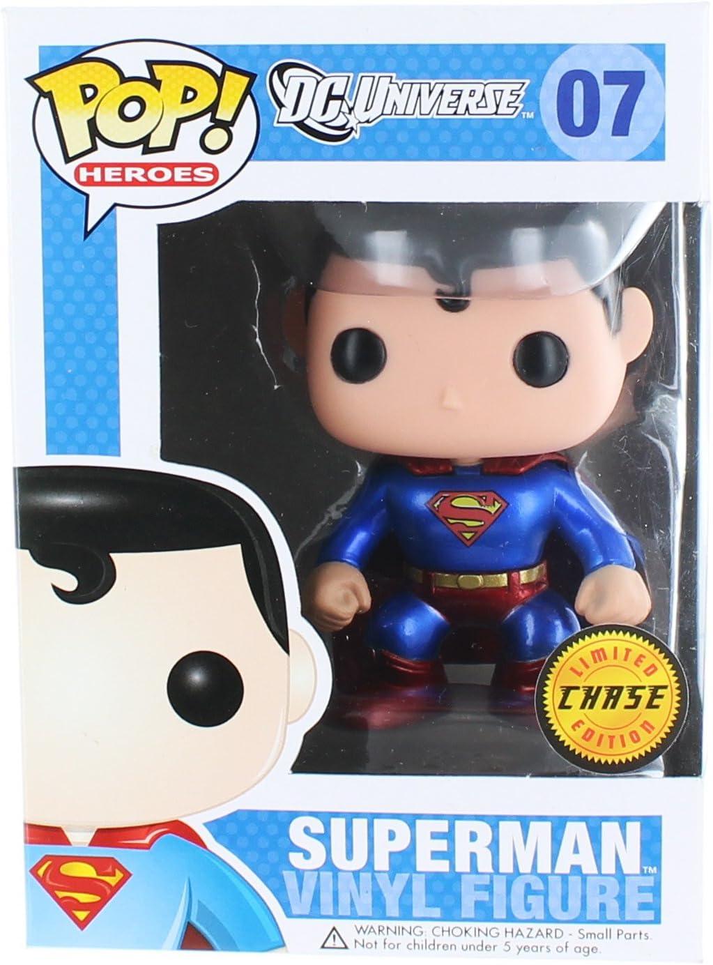 DC Comics Pop! Heroes Superman Chase Metallic Variant Vinyl Figure by Pop! Heroes: Amazon.es: Juguetes y juegos