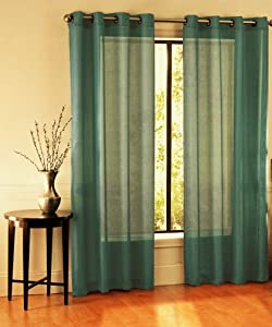GorgeousHomeLinen RubyDifferent Colors 2 Pc Sheer Window Treatment Curtain 55