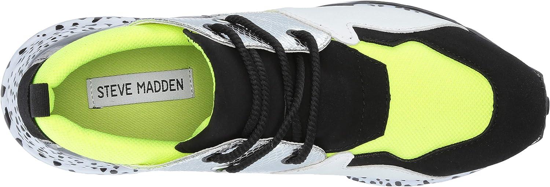 Steve Madden Women's Cliff Sneaker Neon Green