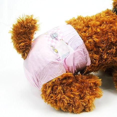 Pañales desechables para mascotas DONO para perros hembra (Súper absorbente y suave, pañales para
