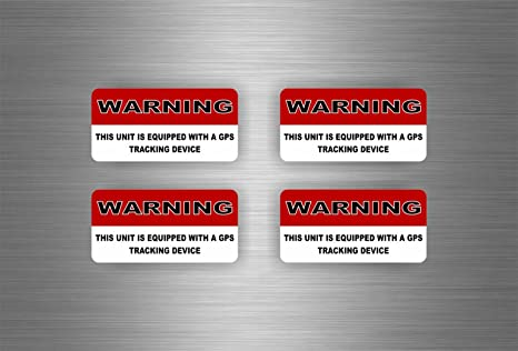 4 pegatinas de tuneo, para coche, de alarma antirrobo y localizador ...