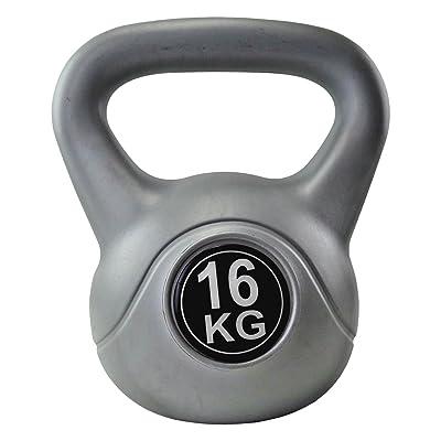BodyRip Kettlebell unisexe en vinyle Gris 16kg